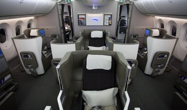 Business Class Cabin for British Airways.