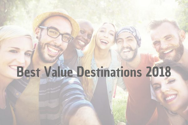 Best value holiday destinations for the millennia's in 2018